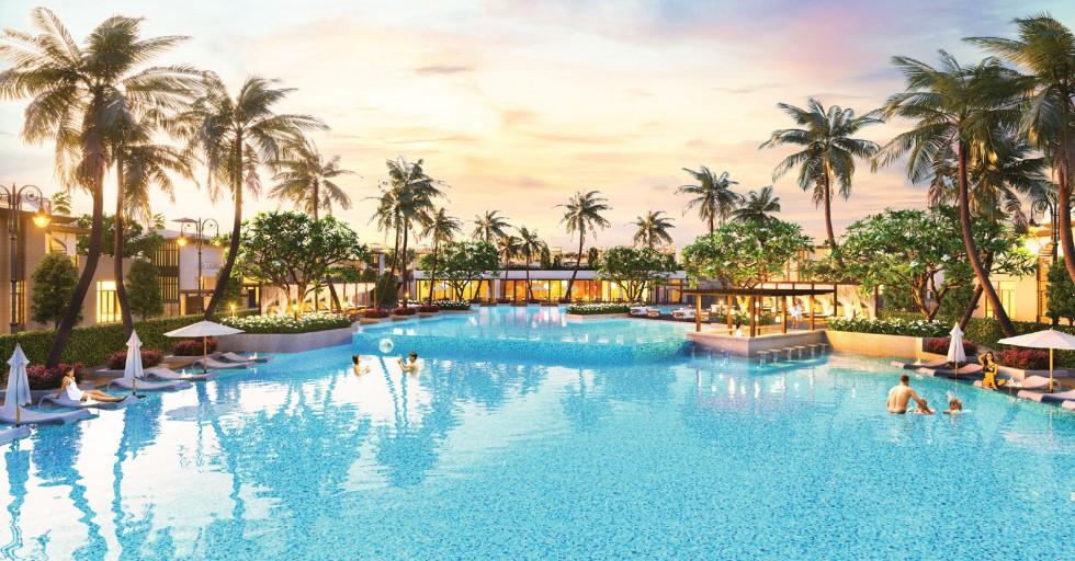 Hồ bơi dự án Cam Ranh Mystery Villas