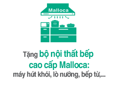 Tặng bộ bếp Malloca