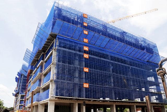 Tiến độ thi công Block N dự án Saigon Mia