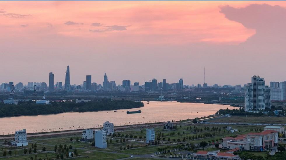 Hướng View về Sông Sài Gòn & Quận 1