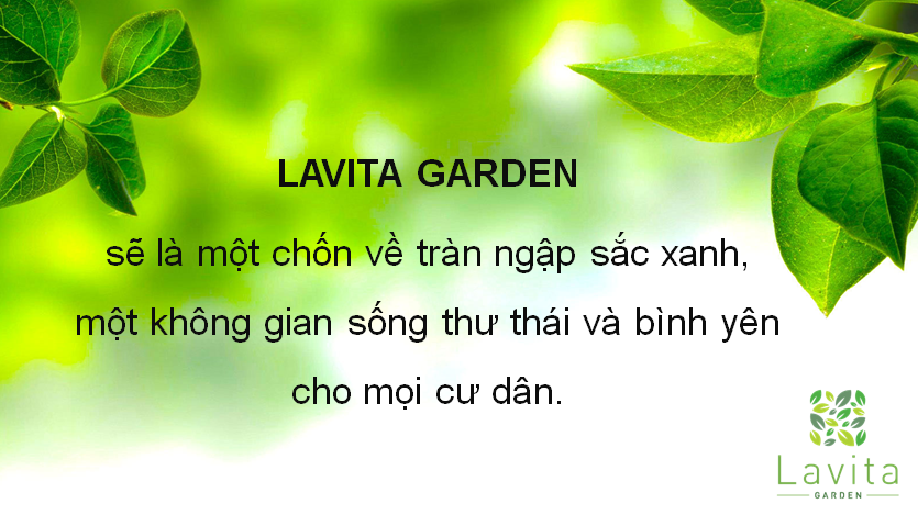 Khu vườn tại dự án Lavita Garden Thủ Đức
