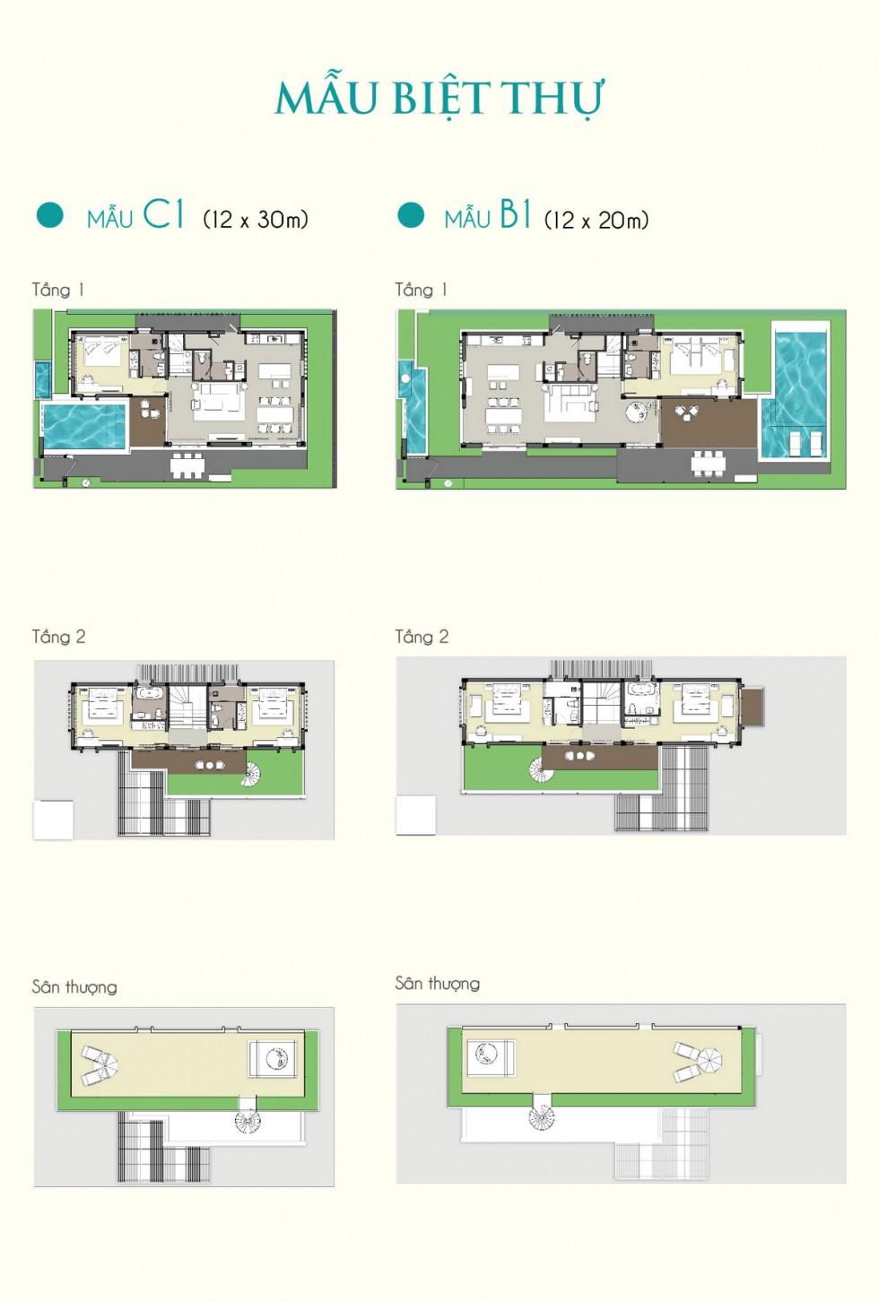 Biệt thự mẫu Cam Ranh Mystery Villas 1