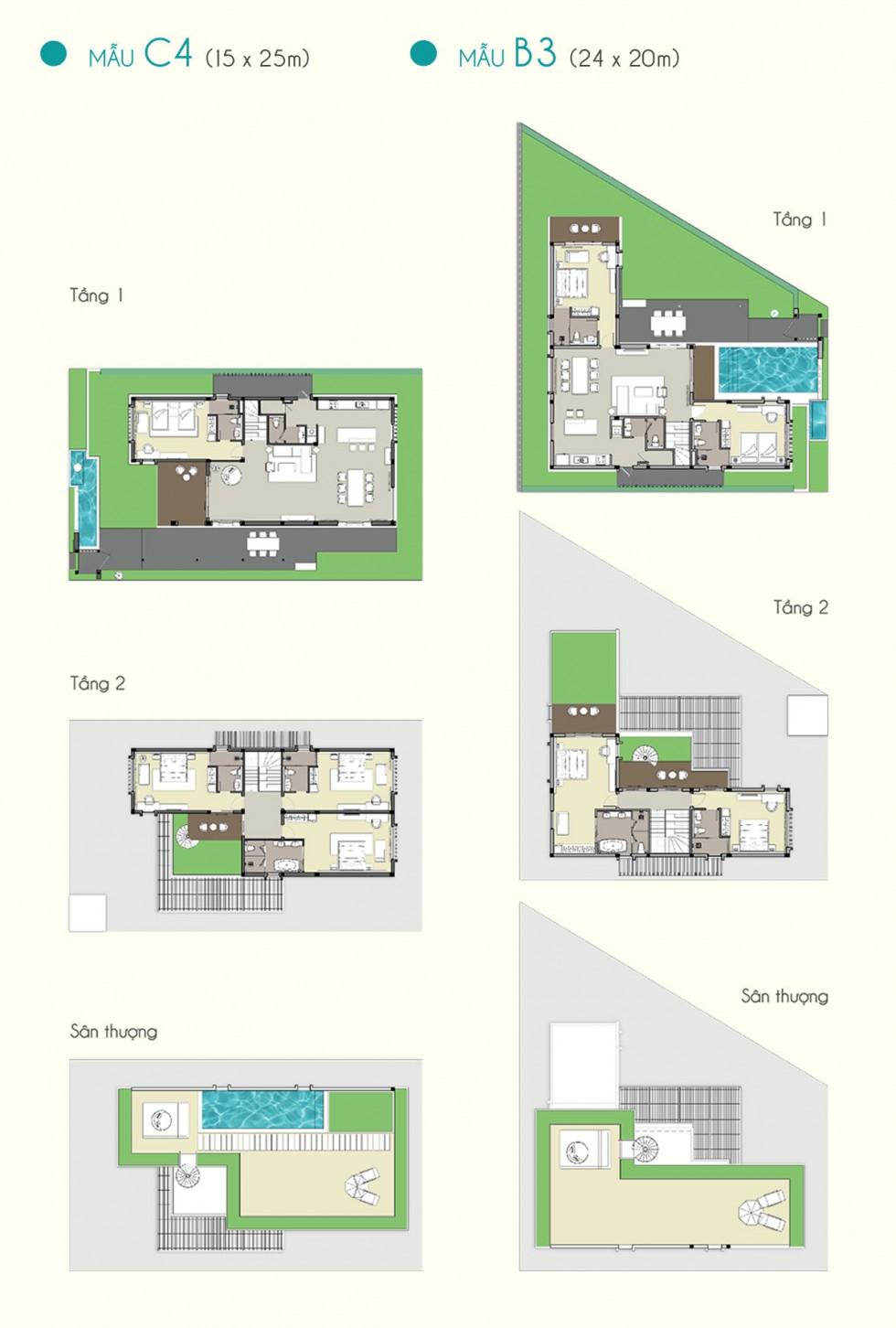 Biệt thự mẫu Cam Ranh Mystery Villas 2