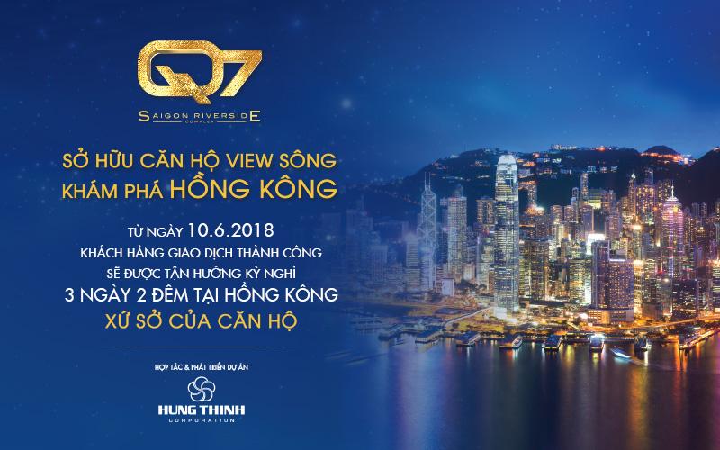 Sở hữu căn hộ Q7 SaiGon Riverside - Nhận ngay cặp vé tham quan Hong Kong