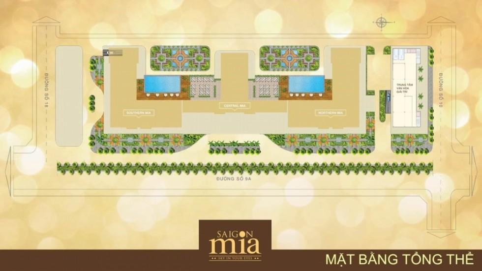Mặt bằng tổng thể dự án Sài Gòn Mia