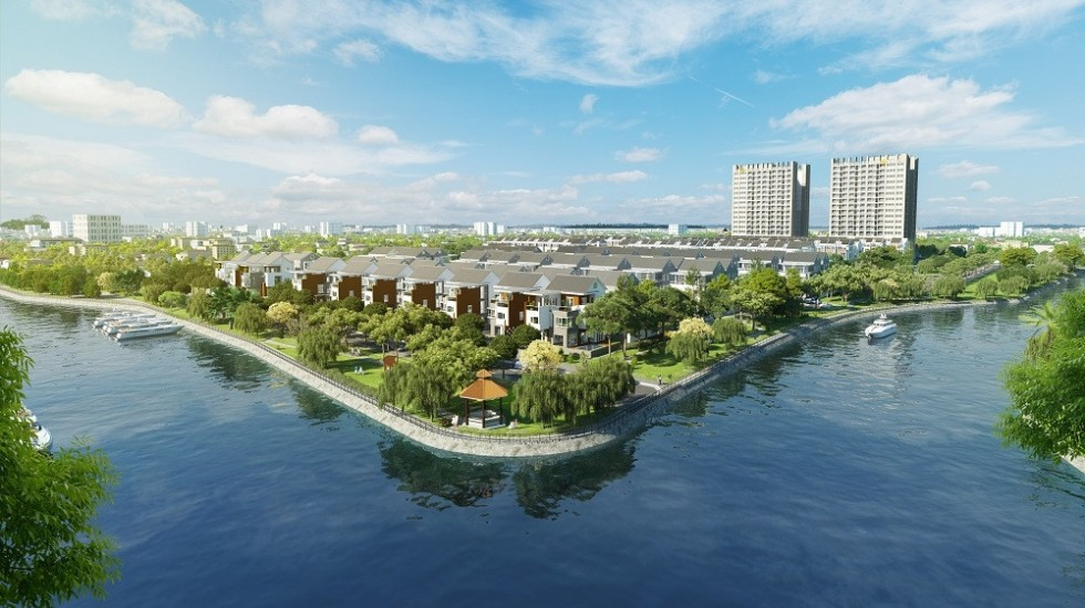 Dự án SaiGon Mystery Villas với 2 mặt giáp sông