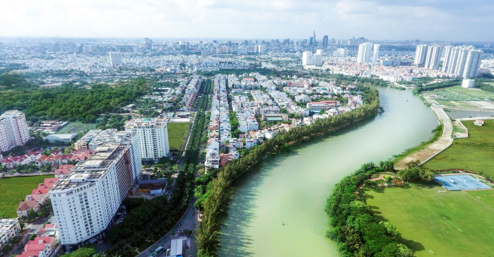 Hướng view về Quận 1 từ căn hộ Citizen.ts