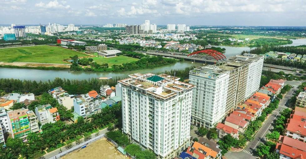 Hướng view về Quận 7 từ căn hộ Citizen.ts