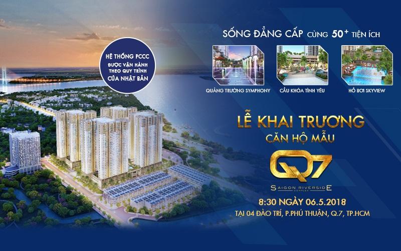 Lễ công bố mở bán và khai trương căn hộ mẫu Q7 SaiGon Riverside