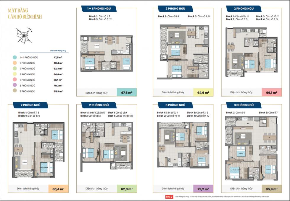 Mẫu thiết kế căn hộ Saigon Mystery