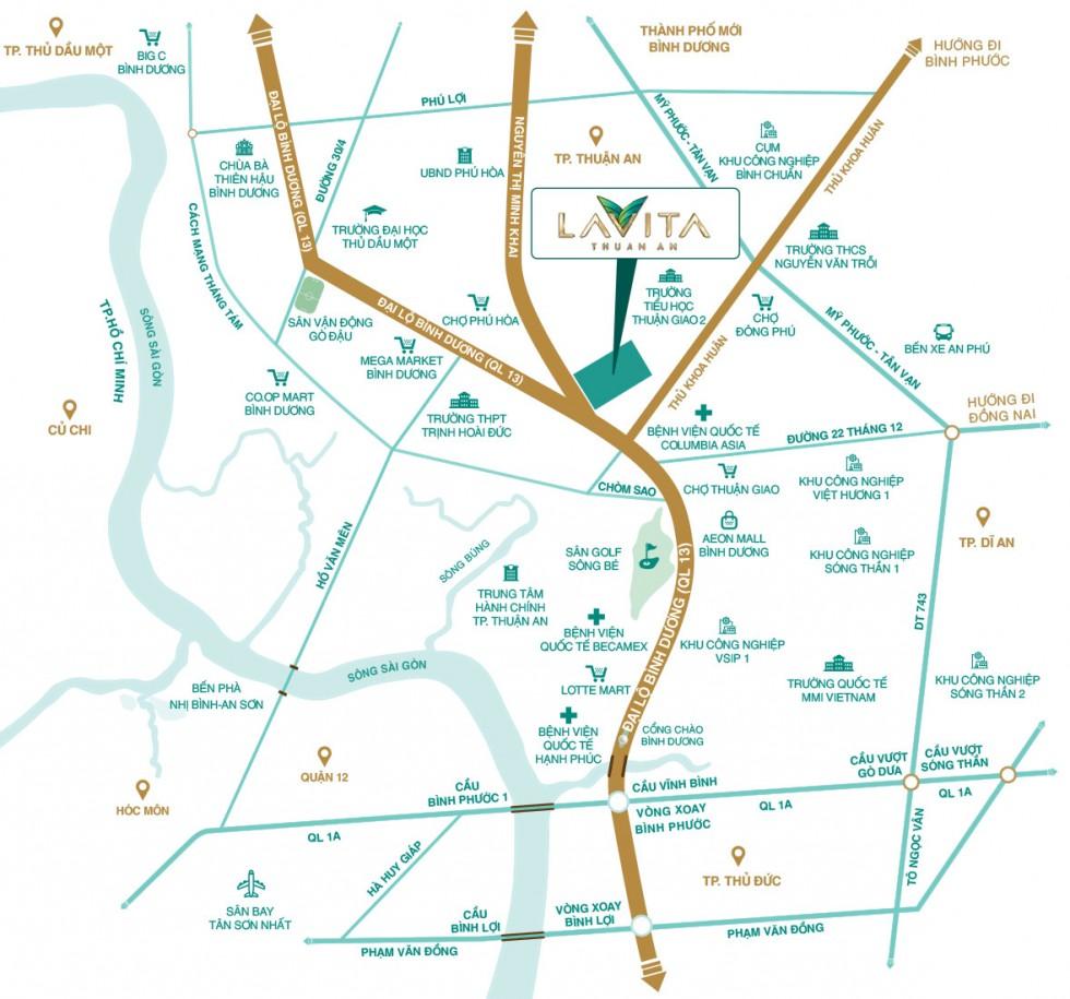 Vị trí dự án Lavita Thuận An