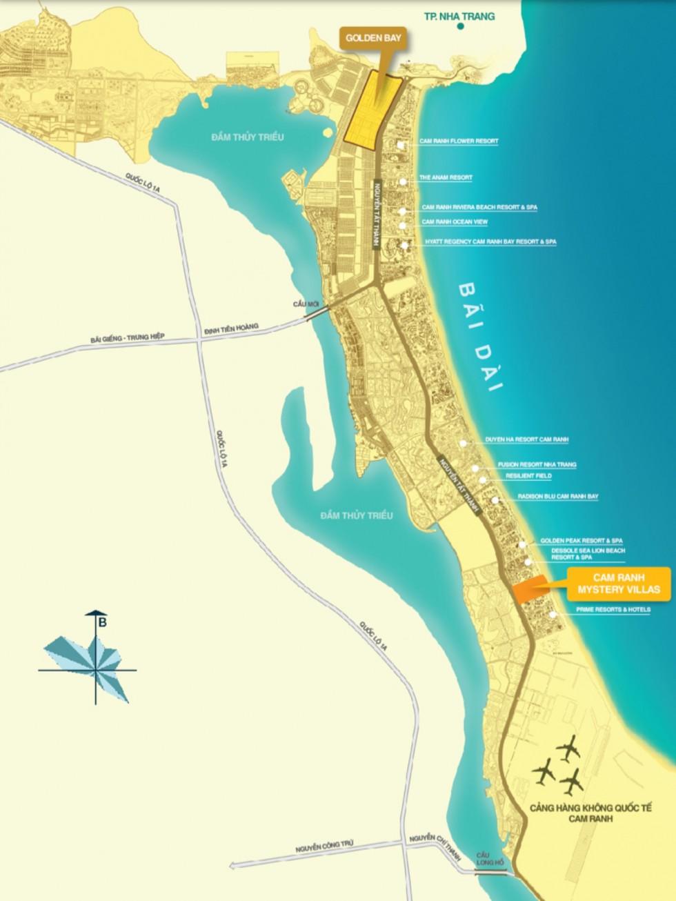 Vị trí dự án Golden Bay Cam Ranh