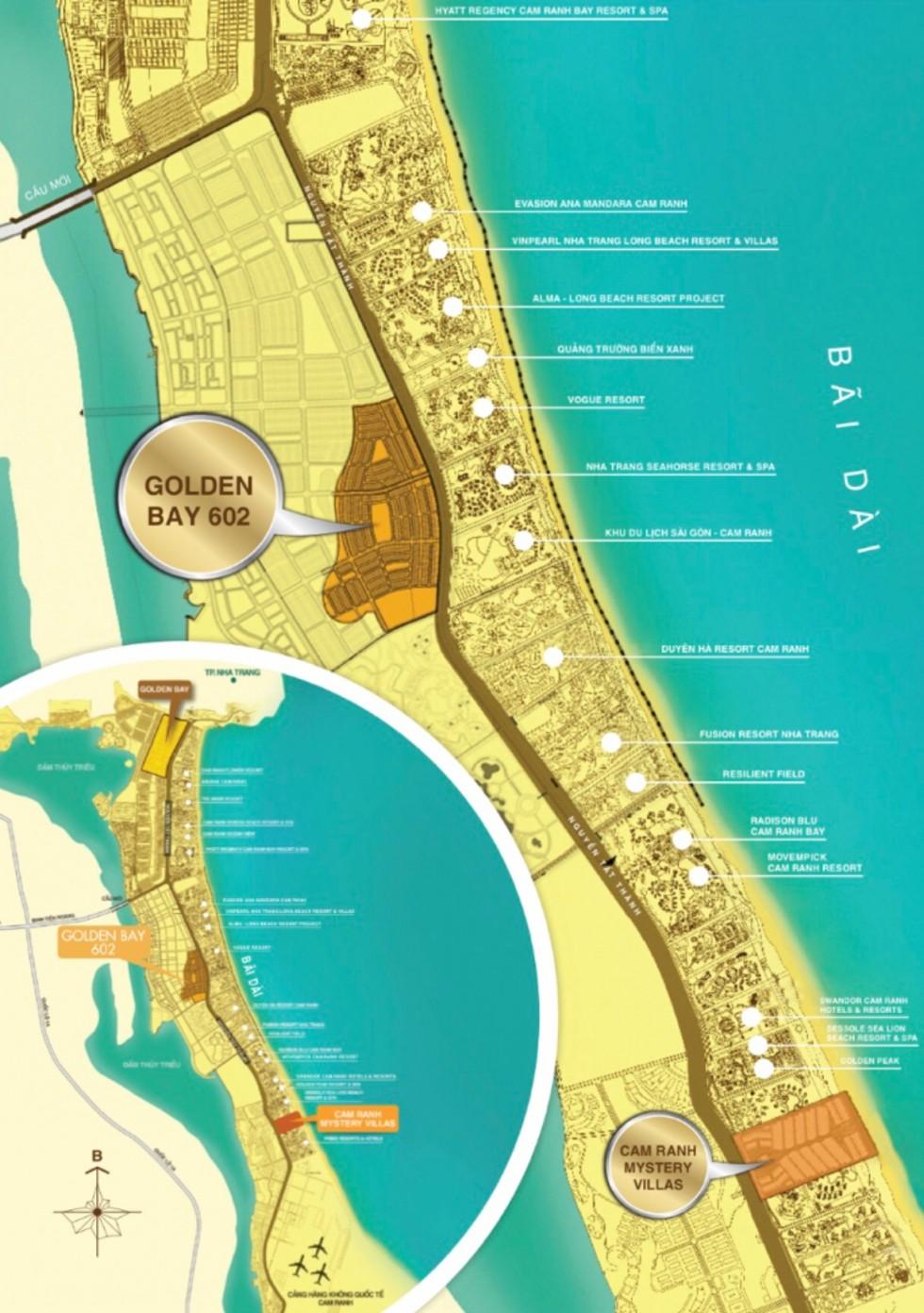 Vị trí dự án Golden Bay 602