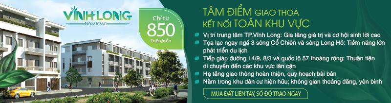 Giá bán Dự án Vĩnh Long New Town