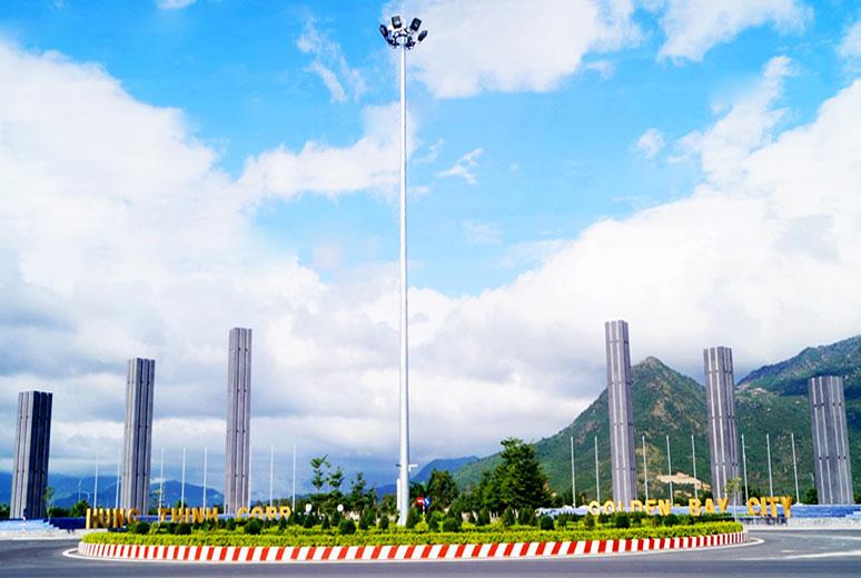 Cổng chào Quảng trường Hạnh Phúc dự án Golden Bay